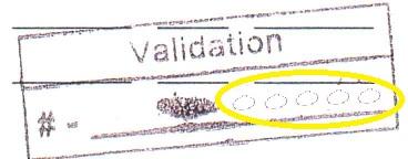Validation number