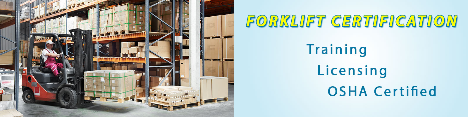 Forklift certification special