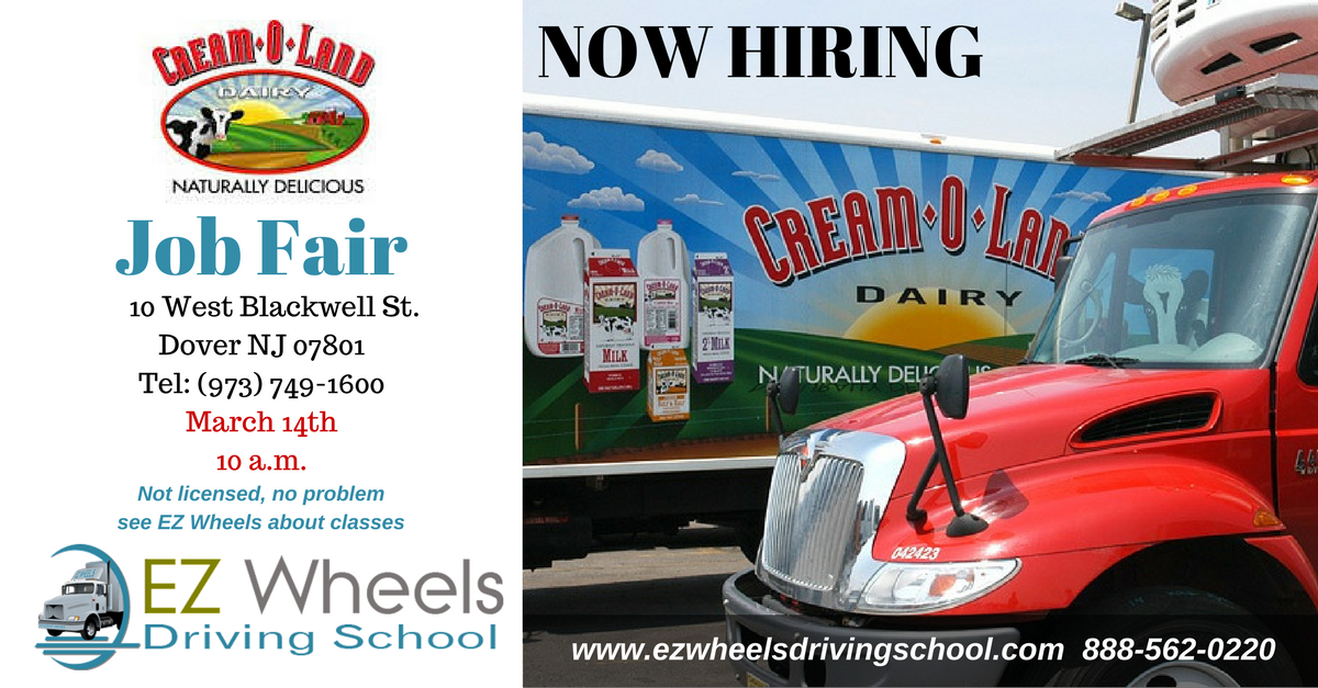 Truck Driver Job Fair Dover NJ Cream O Land Now Hiring