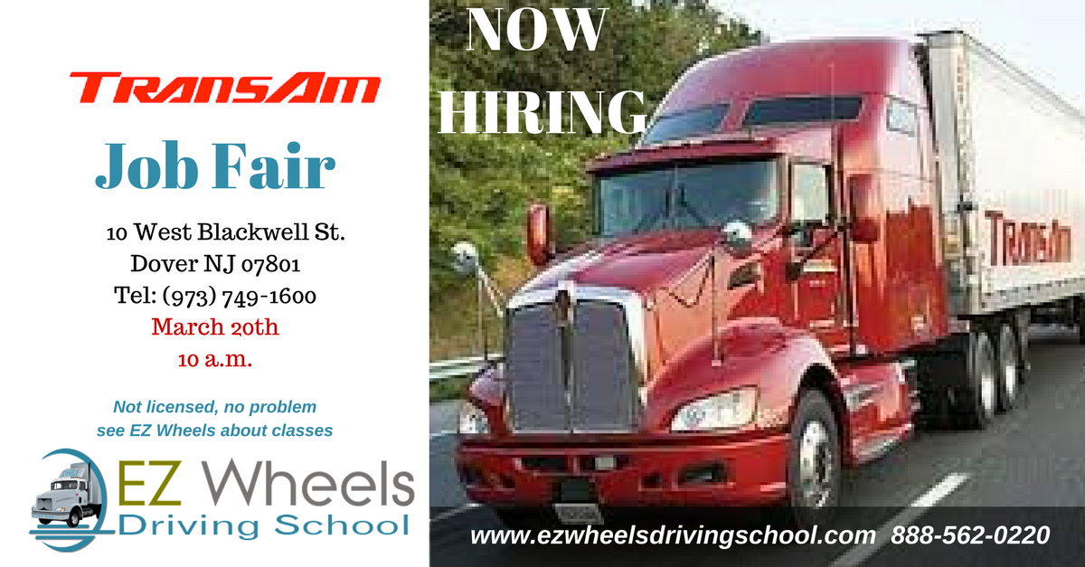 Truck Driver Job Fair Dover NJ Trans Am Now Hiring